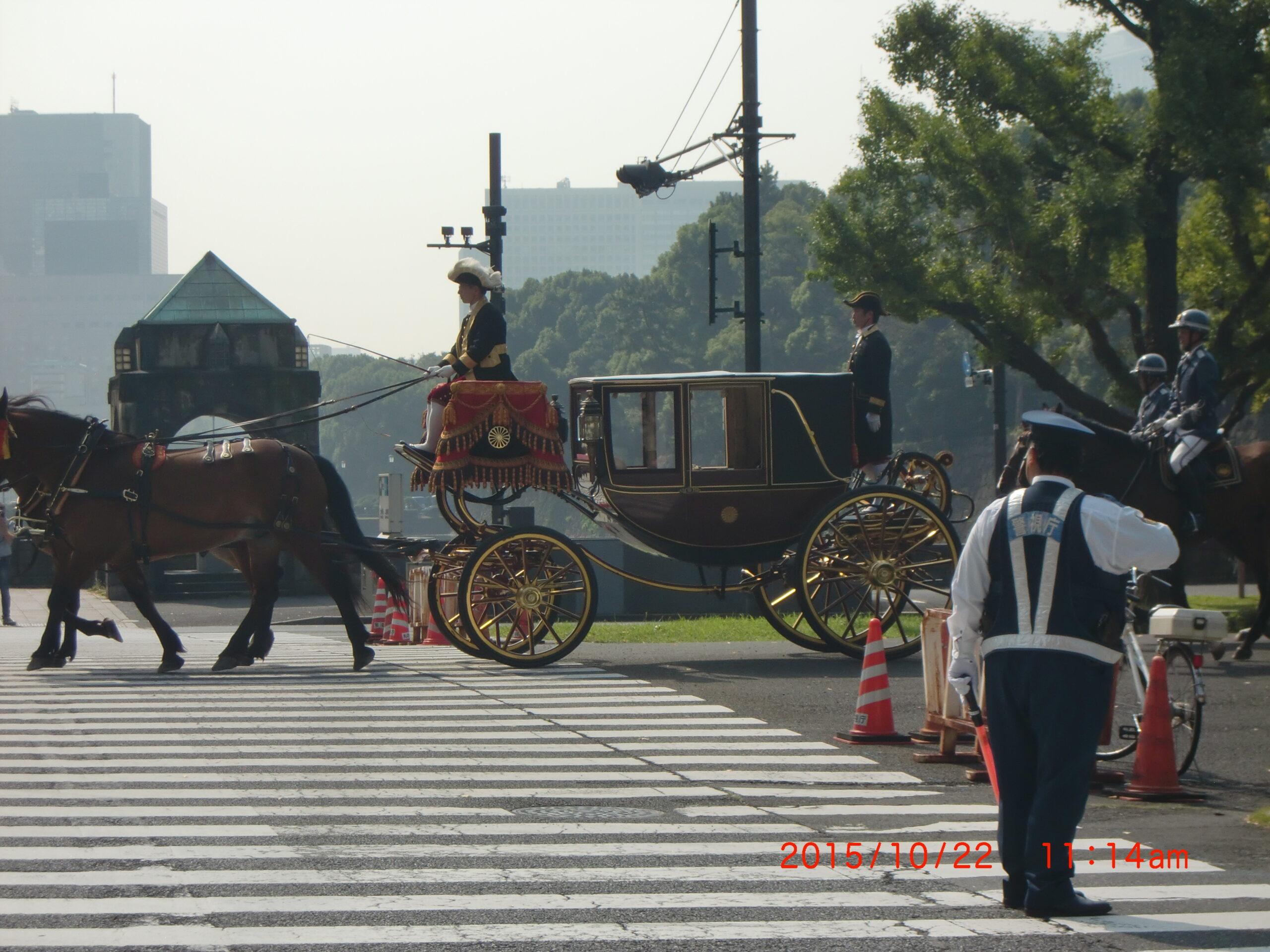 大使の信任状捧呈式の馬車